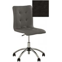 Кресло MALTA GTS CHROME P ECO-30, Экокожа ECO, черный, Хром база