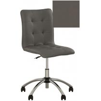 Кресло MALTA GTS CHROME P ECO-70, Экокожа ECO, серый, Хром база