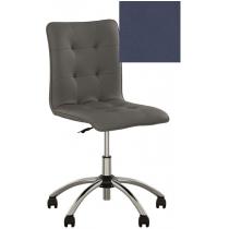 Кресло MALTA GTS CHROME ECO-22, Экокожа ECO, синий, Хром база