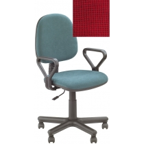 Кресло REGAL GTP NEW C-16, Ткань CAGLIARI, красный, Метал база с пласт наклад