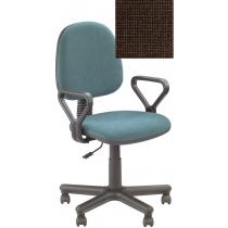 Кресло REGAL GTP NEW C-24, Ткань CAGLIARI, коричневый, Метал база с пласт наклад