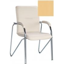 Кресло SAMBA (S) (BOX-2) ECO-01, Экокожа ECO, бежевый, Хром база с мягк наклад