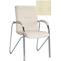 Кресло SAMBA (S) (BOX-2) ECO-07, Экокожа ECO, бежевый, Хром база с мягк наклад