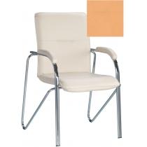 Кресло SAMBA (S) (BOX-2) V-17, Искусственная кожа, бежевый, Хром база с мягк наклад