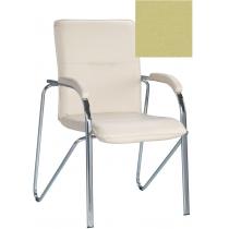 Кресло SAMBA (S) (BOX-2) V-47, Искусственная кожа, зеленый, Хром база с мягк наклад
