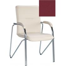 Кресло SAMBA (S) (BOX-2) V-25, Искусственная кожа, бордовый, Хром база с мягк наклад