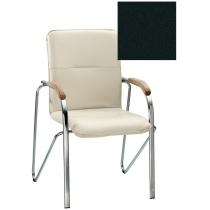 Кресло SAMBA (BOX-2) V-4 1.031, Искусственная кожа, черный, Хром база с дерев наклад