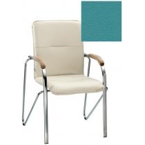 Кресло SAMBA (BOX-2) V-20 1.031, Искусственная кожа, зеленый, Хром база с дерев наклад