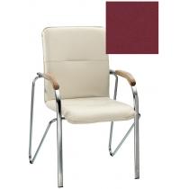Кресло SAMBA (BOX-2) V-25 1.031, Искусственная кожа, бордовый, Хром база с дерев наклад
