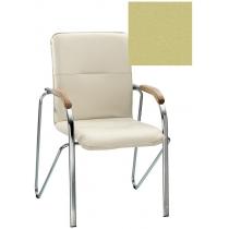 Кресло SAMBA (BOX-2) V-47 1.031, Искусственная кожа, зеленый, Хром база с дерев наклад