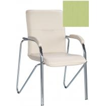 Кресло SAMBA (S) (BOX-2) ECO-45, Экокожа ECO, зеленый, Хром база с мягк наклад