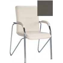 Кресло SAMBA (S) (BOX-2) ECO-70, Экокожа ECO, серый, Хром база с мягк наклад