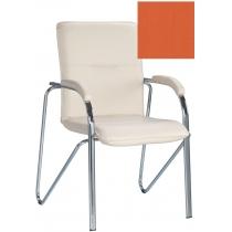Кресло SAMBA (S) (BOX-2) ECO-72, Экокожа ECO, оранжевый, Хром база с мягк наклад
