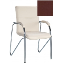 Кресло SAMBA (S) (BOX-2) ECO-28, Экокожа ECO, бордовый, Хром база с мягк наклад