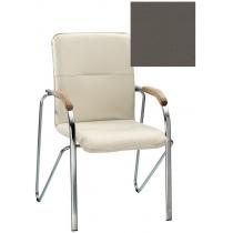 Кресло SAMBA (BOX-2) ECO-70 1.031, Экокожа ECO, серый, Хром база с дерев наклад