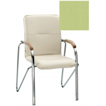 Кресло SAMBA (BOX-2) ECO-45 1.031, Экокожа ECO, зеленый, Хром база с дерев наклад