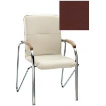 Кресло SAMBA (BOX-2) ECO-28 1.031, Экокожа ECO, бордовый, Хром база с дерев наклад
