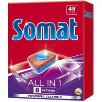 Таблетки для посудомоечной машины Somat все в 1 48 шт
