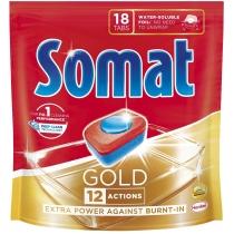 Таблетки для посудомоечной машины Somat Голд 18 шт