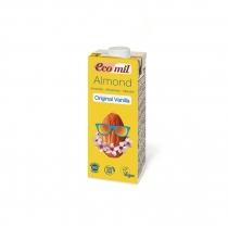 Органическое растительное молоко Ecomil из миндаля с сиропом агавы и с ванилью, 0,2л