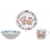 Набор посуды детск. Limited Edition HAPPY CATS /НАБОР/ 3 пр. короб