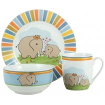 Набор посуды детск. Limited Edition ELEPHANTS 1/НАБОР/ 3 пр. короб