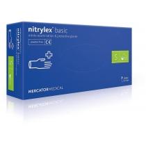 Перчатки нитр. смотр., нест. неприпуд., синие, 200шт / уп, S (10уп / ящ), NITRYLEX BASIC