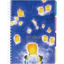 Блокнот Universal A4, пластиковая обложка, с разделителями и перфорацией, 120л, клетка