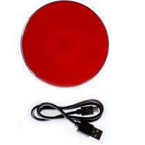 Безпроводное зарядное устройство Optima 4114, 10 W output, красное
