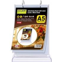 Подставка настольная для рекламы/меню KEJEA формат А5, вертикальная, на кольцах
