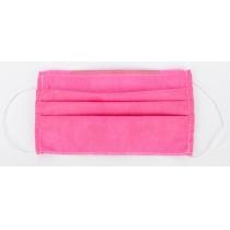 Маска защитная шитая, 3-х слойная цвет розовый