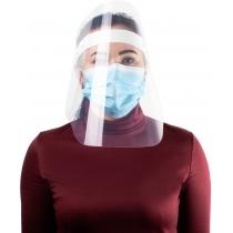 Экран-маска защитный прозрачный, крепление на ленте кнопками