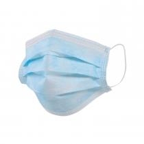 Маска защитная штампованная 3-х слойная  цвет синий