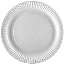 Тарілка бумажная PRO, круглая белая, 18см, 50шт/уп