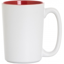 Кружка керамическая Economix Promo GRAND 350мл, бело-красная