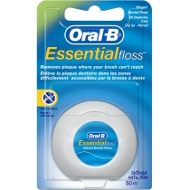 Зубная нить Oral-B Essential floss Waxed мятная, 50м
