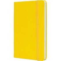 Деловая записная книжка NAMIB, А5, твердая обложка, резинка, белый блок клетка, желтый