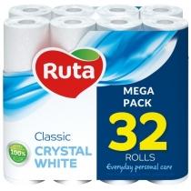 Папір туалетний 2 шари Ruta Classic 32 рулона білий