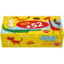 Серветка паперова в коробцi Ruta Kids 155л белые пенал