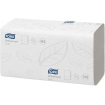 Рушники паперові 2 шари Tork Advanced Singlefold V-складання 200 шт білий Н3