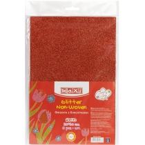 Флізелін з блискітками, 20х30 см, 220±10 г/м 2, червоний