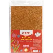 Флизелин с блестками, 20х30 см, 220±10 г/м 2, оранжевый