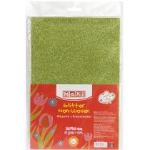 Флизелин с блестками, 20х30 см, 220±10 г/м 2, зеленый