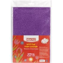 Флизелин с блестками, 20х30 см, 220±10 г/м 2, фиолетовый