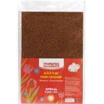 Флизелин с блестками, 20х30 см, 220±10 г/м 2, шоколадный