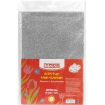 Флизелин с блестками, 20х30 см, 220±10 г/м 2, серебристый