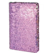 Блокнот с пайетками, А5, 80 лист., блок - крем. бумага, линия