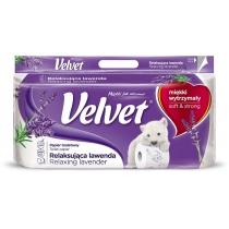 Туалетний папір 3 шари Velvet Лаванда 8 рулонів 150 відривів
