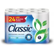 Туалетний папір 2 шари Velvet Classic 24 рулона 144 відрива білий