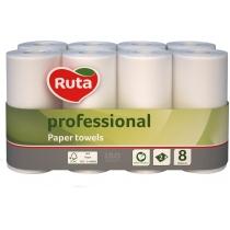 Рушники паперові 2 шари Ruta Professional 8 рулонів білі